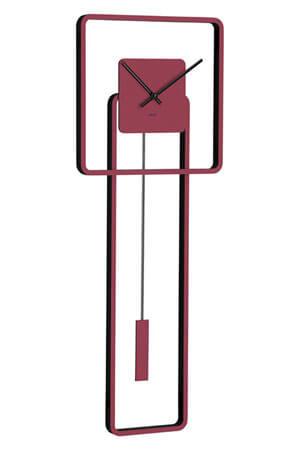 Hermle 61022-362200 Quartz Wandklok met Slinger rood