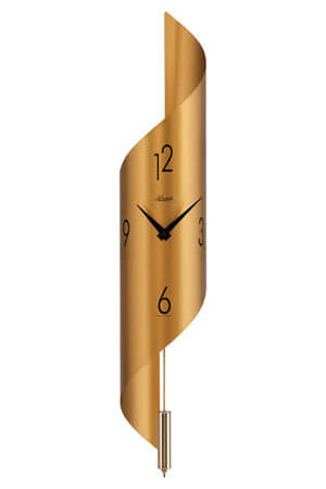 Hermle 70944-X62200 Quartz Wandklok met Slinger goud
