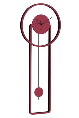 hermle 61024-362200 Quartz Wandklok met Slinger rood