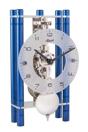 Hermle 23021-Q70721 Tafelklok blauw metaal