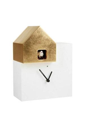Koekoeksklok Modern Diamantini Domeniconi 2057 wit goud