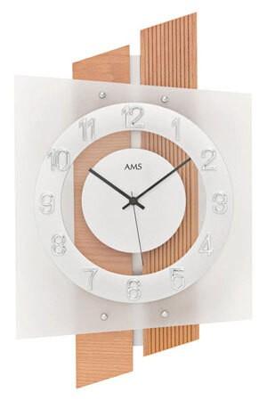 AMS 5530 Quartz Wandklok beuken