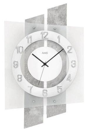 AMS 5532 Quartz Wandklok zilver