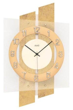 AMS 5533 Quartz Wandklok goud