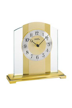 AMS 1119 tafelklok goud en glas