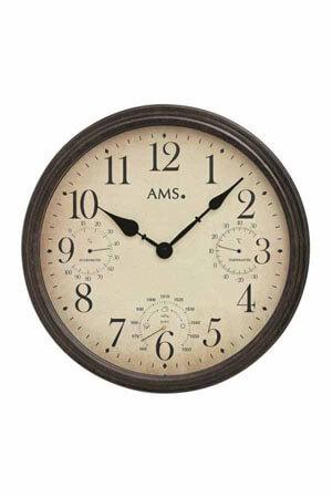 AMS 9463 Quartz Wandklok met barometer