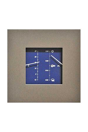 Barometer vierkant blauw