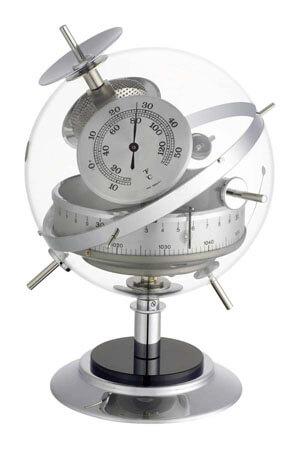 Barometer weerstation zilver