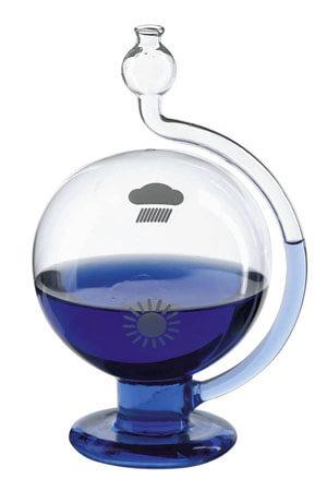 Stormglas blauw